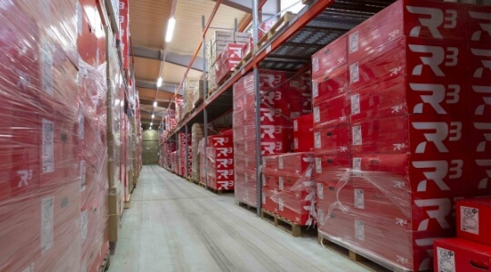 A look into the logistics centre in Meissen