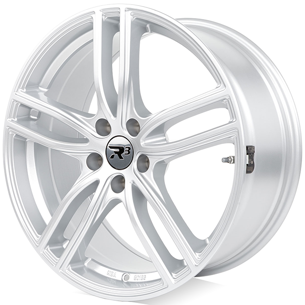 R3 Wheels R3H03 in hyper silver with TPMS sensors.